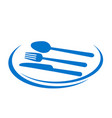 restaurant icon design tasty eat with plate fork vector image