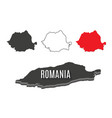 romania world map world geography vector image