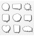 set comic speech bubbles vintage empty comic vector image