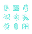 set icons in trendy linear style vector image