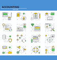 set of business finance and technology vector image