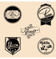 set of pizza labels design elements vector image vector image