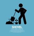 Shovel And Gardener Symbol vector image