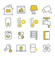 Smart House management Icons vector image