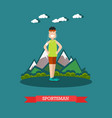 sportsman in flat style vector image vector image
