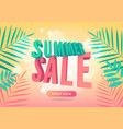summer sale promotion banner in trendy style vector image vector image