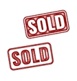 Two realistic Sold grunge rubber stamps vector image vector image