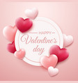 valentines day background with red and pink hearts vector image vector image