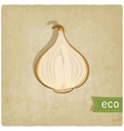 vegetable eco old background vector image vector image