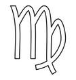 virgin symbol zodiac icon black color flat style vector image
