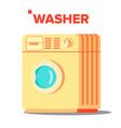 washer mashine classic autonomus home vector image vector image