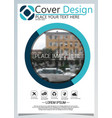brochure template for annual technology related vector image