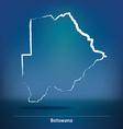Doodle Map of Botswana vector image