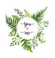 green leaves foliage round greenery leaf wreath vector image