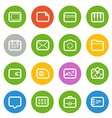 Different Web icons set isolated on white Flat