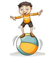 A boy on the ball vector image vector image