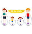 a family workout together vector image vector image
