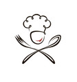 abstract chef design vector image