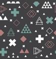 abstract tribal background geometric scandinavian vector image vector image