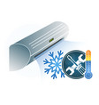 air conditioning repair vector image vector image