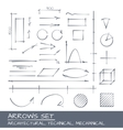 Arrows set drawing vector image