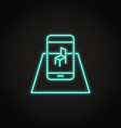 augmented reality concept icon in neon style vector image