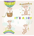 Baby Giraffe Set - Baby Shower or Arrival Card vector image vector image
