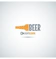 beer bottle opener background vector image vector image