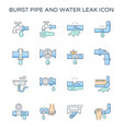 burst pipe icon vector image