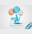 business man infographic option three 8 orange vector image vector image