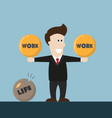 businessman life is not balance vector image vector image