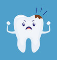 cartoon sick unhappy tooth vector image