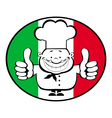 cartoon smiling chef vector image vector image