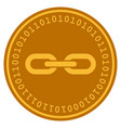 chain digital coin vector image vector image
