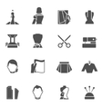 Clothes designer icons black vector image