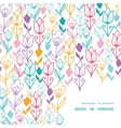 colorful tulip flowers frame corner pattern vector image