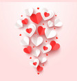 cut paper hearts fly valentine day greeting card vector image vector image