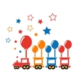 cute holiday train vector image