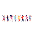 dancers adult people jumping and dancing in line vector image