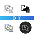 diy building black glyph icon vector image vector image