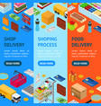 e-commerce banner vecrtical set vector image vector image