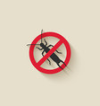 earwig silhouette pest icon stop sign vector image vector image