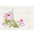 Eiffel tower simbol vector image vector image