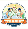 emblem tennis tournament vector image vector image