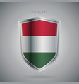 europe flags series hungary modern icon vector image