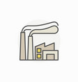 factory colorful icon vector image vector image