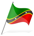 flag of Saint Kitts and Nevis vector image