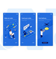 flat design oneboarding concepts - isometric 2 vector image vector image