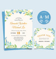 Floral wedding invitation elegant thank you card