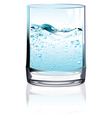 glass of water vector image vector image